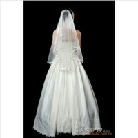 Bride marriage Veils yarn 2 layer  ribbon serging bat type veil +  comb/bride accessories, dress accessories