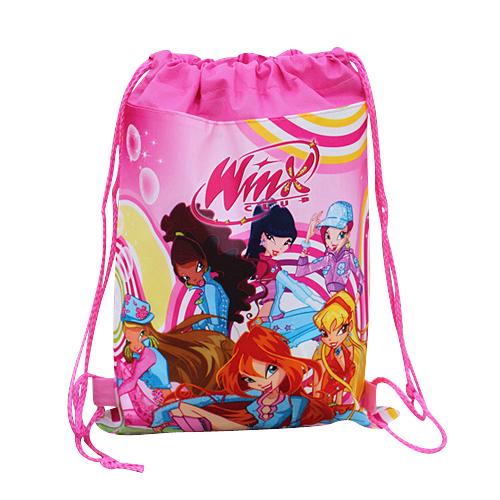 Free Shipping,1Pcs Winx Club Kids Drawstring Backpack Bags,Shopping/School/Traveling/GYM bags,waterproof fabric,Girls Gift(China (Mainland))