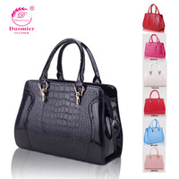 Bag 2014 crocodile pattern fashion smiley women's handbag one shoulder big bags handbag messenger bag free shipping