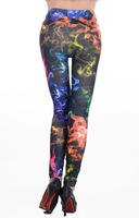 2014 Fashion Galaxy Leggings Space Printed Pants Smoke Star Leggings Free Size FREE SHIPPING