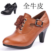 2014 spring, new, lady, natural leather, career, fashion, comfortable, high-heeled shoes, women leather shoes, free shipping