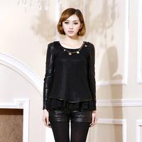 Winter women's 2013 slim plus size basic thermal top sweater