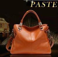 Brand 2014 Spring and Summer fashion leather women handbags high quality square genuine leather shoulder handbag Totes