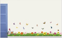 Creative Thick growth of grass  wall stickers Romantic wall stickers bedroom wall stickers living room wall stickers
