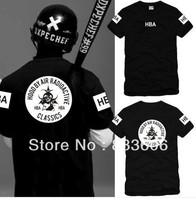 men and women Hood By Air HBA Chi Long Korean street fashion in Europe and America Edison t-shirt hip-hop short shirt