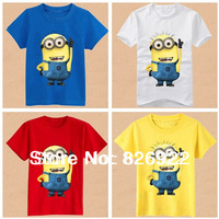 Free Shipping,2014 New summer Children's wear baby cartoon short sleeve T-shirt boy girl leisure t shirt kids tops tees 5pcslot