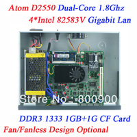 Firewall System 1U network server with Atom D2550 4 Ethernet support PFS ROS Panabit PFSense monowall WAYOS BYTEVALUE hi-spider