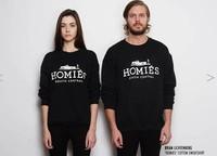 New 2014 Brand Homies Hoodies man and Women's Clothing  Long Sleeve  Couple Hoodies  Fashion Pullovers tops Sweatshirts