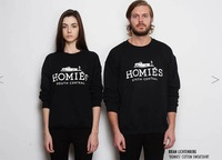 New 2014 Brand Homies Hoodies man and Women's Clothing  Long Sleeve  Couple Hoodies  Fashion Pullovers tops Sweatshirts