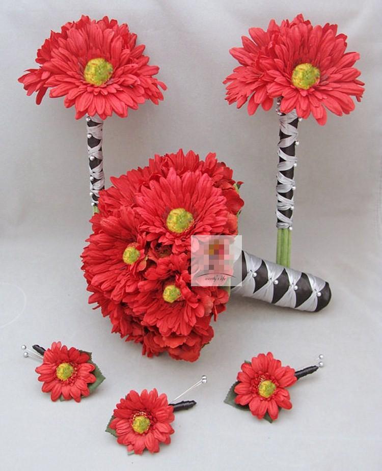 Red Gerbera Wedding Bouquets : Red gerbera bouquet images