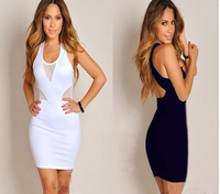 2014 spring fashion women sexy gauze hip slim one-piece dress