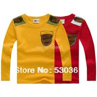Children's clothing  New 2015 spring male female child child long-sleeve T-shirts , basic t shirts