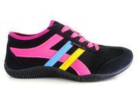 Cool design lace up mesh tennis sport shoes  running shoe women's casual shoes female sneaker shoe 4 color big size