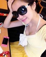 Fashion popular mix color can wholesale more preferential Bow women's sunglasses 5171 20  5ps/lot