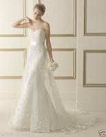 New white/ivory wedding dress custom size 2-4-6-8-10-12-14-16-18-20-22-38