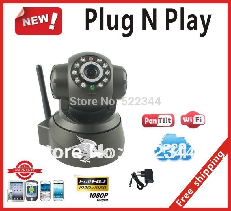 Cheap Wireless IP Camera P2P Dual Audio IRNight Vision WPA Internet wifi wireless ip camera Baby Household and free shipping(China (Mainland))