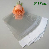 9cm*17cm Clear Self-adhesive Seal Plastic Bags OPP Poly Bags Retail Packaging Bag W/ Hang Hole Wholesale 500Pcs/Lot
