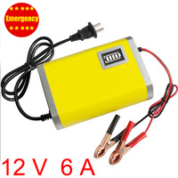 Car charger  12v motorcycle car battery charger 6A  portable size Free Shipping