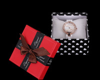 Price good quality packaging box bowknot with pillow for jewelry watch gift box( not sell single, have to buy watch! )