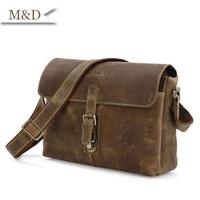 M&D New Arrivals Man Leather Shoulder Bag Fasion Genuine Leather Messenger Bag High Quality Men Bag
