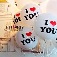 free shipping 12 circle thickening decoration you polka dot balloon heart balloon transparent ball
