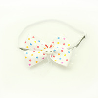 Handmade Lovely color dot pattern Ribbon Pet Tie Bow Dog boutique small wholesale.