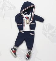 Retail new 2014 boy clothing set  sport clothing 3 pcs set children hoodies+t shirt+kids pants child autumn wear