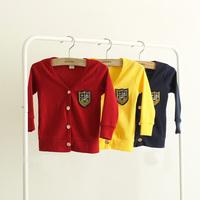 2014 spring and autumn badge boys clothing girls clothing baby child cardigan wt-1132