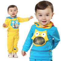 Free shipping2014 Korean version of the new spring 0373 children's hooded owl modelsbaby clothing