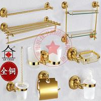 Hardware accessories copper towel rack shelf cup holder paper towel holder toilet brush set bathroom accessories