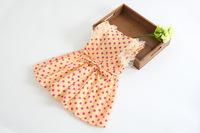 Free shipping 2014 newborn girl dresses children dot chiffon dress new Korean models baby clothing Female baby dress