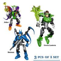 3X Freeshipping Assembled building blocks of Avengers Superhero Batman Joker Green Lantern Children's educational toys
