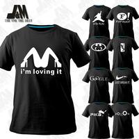 Novelty T-shirts new fasion men clothing 2014 summer original top desiner brand t shirts plus size cartoon logo funny tshirt diy