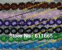 Free CPAM Chic Shabby rose hair flower in yard, Chiffon Wedding dress flower lace trimming,5cm,100pcs/lot