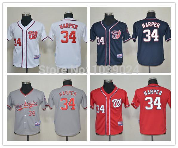 Baseball Jerseys 34 100% Youth Baseball Jersey Kids blank kids youth baseball snapback hat