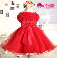 Children's clothing child 2014 female wedding   princess flower girl   dress