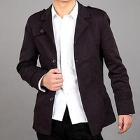 Autumn and winter men's suit fashion male upperwear commercial new arrival epaulette type slim suit casual outerwear