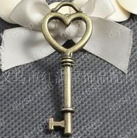 40pcs/lot Zinc alloy bead Antique Bronze Plated Charms Pendants Fit Jewelry Findings Making 56*21MM heart key Shape JHA1027