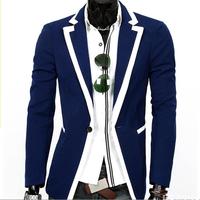 Autumn 2013 Men slim casual suit men's clothing fashion suit outerwear fashion