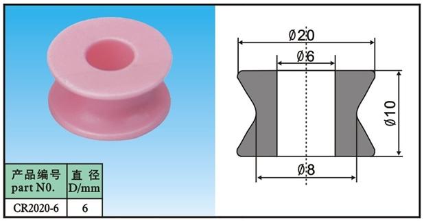 ceramic guide pullley CR2020-6(China (Mainland))