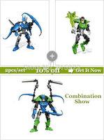 2PCS/LOT Freeshipping Decool  3D Super Hero Factory Batman+Green Lantern building blocks kids robot toys