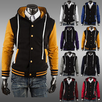 2014 NEW Men's Classic Hoodie Baseball Jacket man coat, eight color AC cardigan foreign trade M~XXL