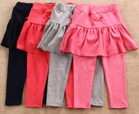 Free shipping Wholesale 5pcs/lot Girls' Leggings Children's skirt Girls Skirt-pants Cake skirt Kid's pants 4 Color