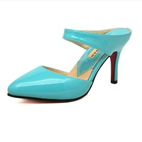wholesale Fashion solid color women's stiletto shoes pointed toe foot luxury wrapping sexy female sandals