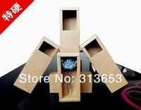 32*32*77MM DIY Drawing Kraft Gift Box craft  bottle packaging Lipstick box cosmetics packaging -free shipping