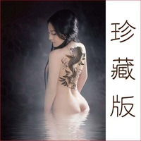 Waterproof tattoo sticker ultralarge paragraph fish Women wedding