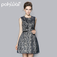 Spring 2014  high quality elegant slim one-piece dress organza autumn one-piece dress