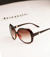Hilton large-panel large metal sunglasses vintage sunglasses light round fashion women's large sunglasses