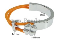 Free shipping!!!Zinc Alloy Bracelet,New 2013 Jewelry, with Elastic Thread, platinum color plated, orange, nickel