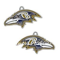 free shipping left- and right-facing single-sided Baltimore Ravens enamel sport team charms 60pcs a lot
